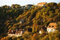 Buildings in L'Hospitalet village at sunset, Rocamadour, Lot, Midi-Pyrenees, France by Panoramic Images - various sizes