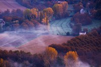 Aerial View of Dordogne River Valley in fog, Domme, Dordogne, Aquitaine, France by Panoramic Images - various sizes - $54.99