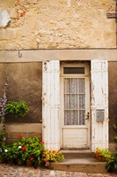 Detail of a building, Saint-Emilion, Gironde, Aquitaine, France Fine Art Print