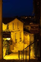 Street view at dawn, Saint-Emilion, Gironde, Aquitaine, France by Panoramic Images - various sizes