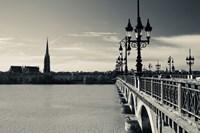 Pont de Pierre bridge across Garonne River, Bordeaux, Gironde, Aquitaine, France by Panoramic Images - various sizes