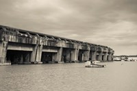 World War Two-era Nazi submarine base now an art gallery, Bordeaux, Gironde, Aquitaine, France Fine Art Print