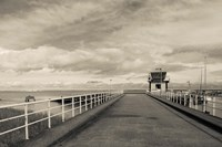 Town Pier on the Gironde River, Pauillac, Haut Medoc, Gironde, Aquitaine, France (black and white) by Panoramic Images - various sizes, FulcrumGallery.com brand