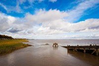 Town Pier on the Gironde River, Pauillac, Haut Medoc, Gironde, Aquitaine, France by Panoramic Images - various sizes, FulcrumGallery.com brand