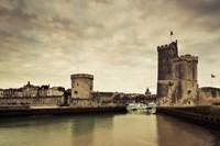 Tour de la Chaine and Tour St-Nicholas towers, Old Port, La Rochelle, Charente-Maritime, Poitou-Charentes, France Fine Art Print