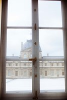 Louvre museum viewed through a window, Paris, Ile-de-France, France by Panoramic Images - various sizes, FulcrumGallery.com brand