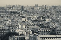 Aerial view of a city viewed from Basilique Du Sacre Coeur, Montmartre, Paris, Ile-de-France, France Fine Art Print