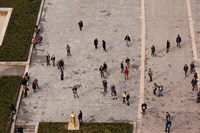 Aerial view of tourists viewed from Notre Dame Cathedral, Paris, Ile-de-France, France by Panoramic Images - various sizes