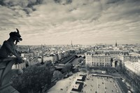 City viewed from the Notre Dame Cathedral, Paris, Ile-de-France, France Fine Art Print