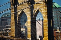 Close-up One of the Brooklyn Bridge Towers, New York by Panoramic Images - various sizes
