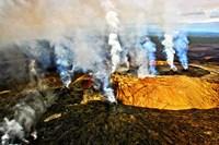 Steam erupting from a volcano, Kilauea, Kauai, Hawaii Fine Art Print