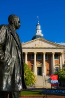 Statue with a State Capitol Building in the background, Annapolis, Maryland, USA by Panoramic Images - various sizes