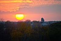 Trees and farm sunset, Wisconsin, USA by Panoramic Images - various sizes - $54.99