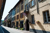 Houses along a street, Cernobbio, Como, Lombardy, Italy by Panoramic Images - various sizes, FulcrumGallery.com brand