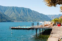 Sundeck and floating pool at Grand Hotel, Tremezzo, Lake Como, Lombardy, Italy Fine Art Print