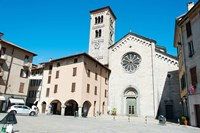 Low angle view of a church, Church of San Fedele, Piazza San Fedele, Como, Lombardy, Italy by Panoramic Images - various sizes, FulcrumGallery.com brand