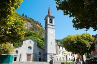 Church on main square, Varenna, Lake Como, Lombardy, Italy by Panoramic Images - various sizes