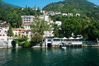 Acquadolce Cafe at the edge of Lake Como, Carate Urio, Province of Como, Lombardy, Italy by Panoramic Images - various sizes