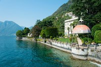Home along a lake, Lake Como, Sala Comacina, Lombardy, Italy by Panoramic Images - various sizes, FulcrumGallery.com brand