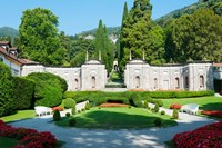 Garden at Villa d'Este hotel, Cernobbio, Lake Como, Lombardy, Italy Fine Art Print