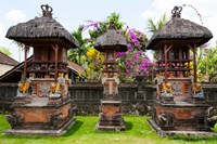 Offering altars, Rejasa, Penebel, Bali, Indonesia Fine Art Print