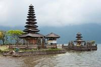 Pura Ulun Danu Bratan temple on the edge of Lake Bratan, Baturiti, Bali, Indonesia Fine Art Print