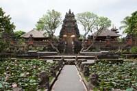 Facade of the Pura Taman Saraswati Temple, Ubud, Bali, Indonesia Fine Art Print