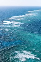 Waves Breaking on Great Barrier Reef, Queensland, Australia Fine Art Print