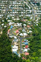 Exclusive houses on hilltop cul-de-sac, Toogood Road, Bayview Heights, Cairns, Queensland, Australia by Panoramic Images - various sizes, FulcrumGallery.com brand