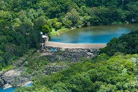 Aerial view of a dam on Barron River, Kuranda, Cairns, Queensland, Australia by Panoramic Images - various sizes