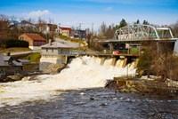Spring flood at Hydro Falls on Muskoka River, Bracebridge, Ontario, Canada by Panoramic Images - various sizes