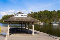 Town dock and cottages at Port Carling, Ontario, Canada by Panoramic Images - various sizes, FulcrumGallery.com brand