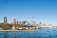 City skyline at the waterfront, Toronto, Ontario, Canada 2013 Fine Art Print