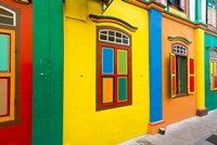 Restored building in Little India, Singapore by Panoramic Images - various sizes, FulcrumGallery.com brand