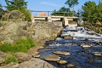Water falling through dam, Moon River Dam, Moon River, Bala, Ontario, Canada by Panoramic Images - various sizes