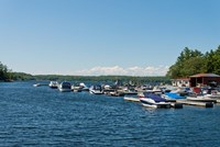 Boats in the sea, Rose Point Marina, Parry Sound, Ontario, Canada by Panoramic Images - various sizes