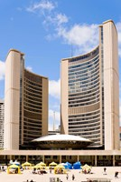 Facade of a government building, Toronto City Hall, Nathan Phillips Square, Toronto, Ontario, Canada Fine Art Print