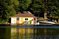 Boathouse at the lakeside, Lake Muskoka, Ontario, Canada by Panoramic Images - various sizes