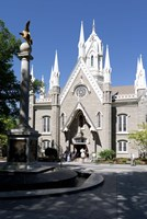 Facade of the Salt Lake Assembly Hall, Temple Square, Salt Lake City, Utah, USA Fine Art Print