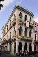 Buildings along the street, Havana, Cuba Fine Art Print