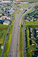 Aerial view of a highway passing through a town, Interstate 80, Park City, Utah, USA by Panoramic Images - various sizes