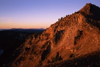 The Watchman at sunrise, Crater Lake National Park, Oregon, USA by Panoramic Images - various sizes, FulcrumGallery.com brand