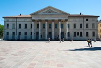 Facade of a theatre, Teatro Sociale, Como, Lombardy, Italy by Panoramic Images - various sizes - $55.49