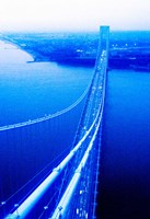 Suspension bridge over the sea, Verrazano-Narrows Bridge, New York Harbor, New York City, New York State, USA by Panoramic Images - various sizes