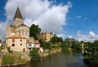 Church on a hill, Saint Sauveur Church, Mareuil-Sur-Lay-Dissais, Pays De La Loire, Vendee, France by Panoramic Images - various sizes