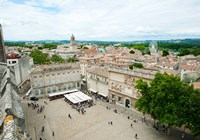 Aerial view of square named for John XXIII, Avignon, Vaucluse, Provence-Alpes-Cote d'Azur, France by Panoramic Images - various sizes