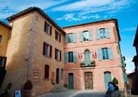 Facade of a building, Hotel de Ville, Roussillon, Vaucluse, Provence-Alpes-Cote d'Azur, France by Panoramic Images - various sizes