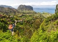 High angle view of Porto da Cruz and Penha de Aguia from Portela, Madeira, Portugal by Panoramic Images - various sizes