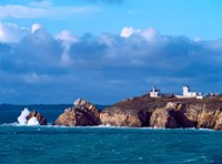 Lighthouse at Pointe Du Toulinguet, Celtic Sea, Finistere, Brittany, France by Panoramic Images - various sizes, FulcrumGallery.com brand
