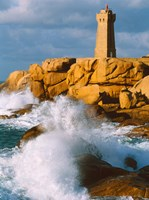 Ploumanac'h Lighthouse, Pink Granite Coast, Perros-Guirec, Cotes-d'Armor, Brittany, France by Panoramic Images - various sizes